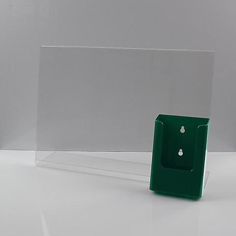 L-Standaard A3 met 1/3 A4 Folderhouder Groen