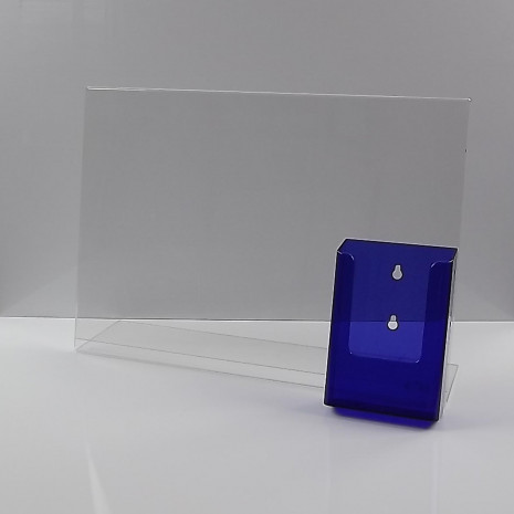 L-Standaard A3 met 1/3 A4 Folderhouder Transparant Paars