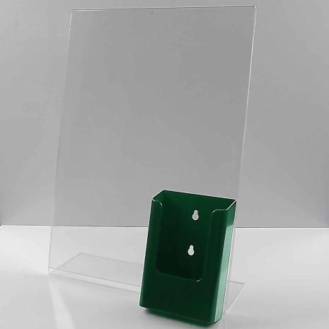 -Standaard A3 Staand met 1/3 A4 Folderhouder Groen