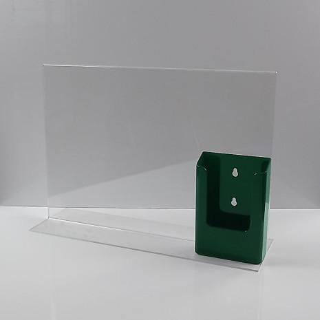 T-Standaard A3 Liggend met 1/3 A4 Folderhouder Groen