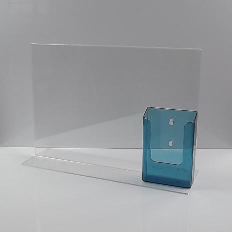 T-Standaard A3 Liggend met 1/3 A4 Folderhouder Transparant Blauw