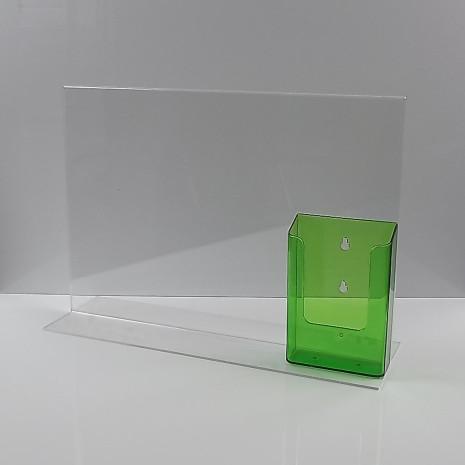 T-Standaard A3 Liggend met 1/3 A4 Folderhouder Transparant Groen