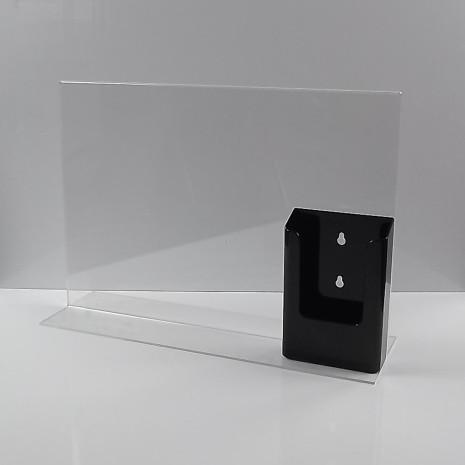 T-Standaard A3 Liggend met 1/3 A4 Folderhouder Zwart