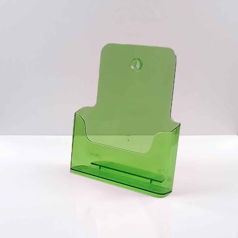 Folderhouder A4 Transparant Groen