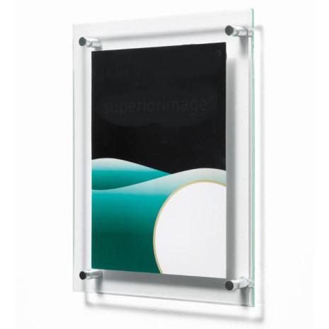 Wand kaarthouder met afstandhouder 12,7 x 17,8 cm