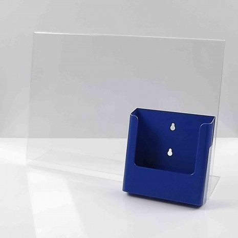 L-Standaard A3 met A5 Folderhouder Blauw