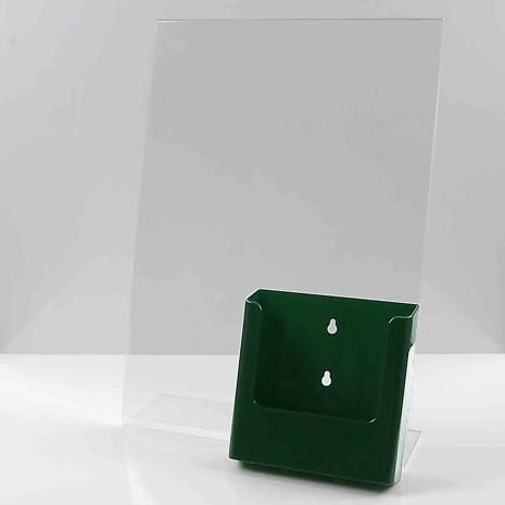 L standaard A3 staand met folderhouder A5 groen