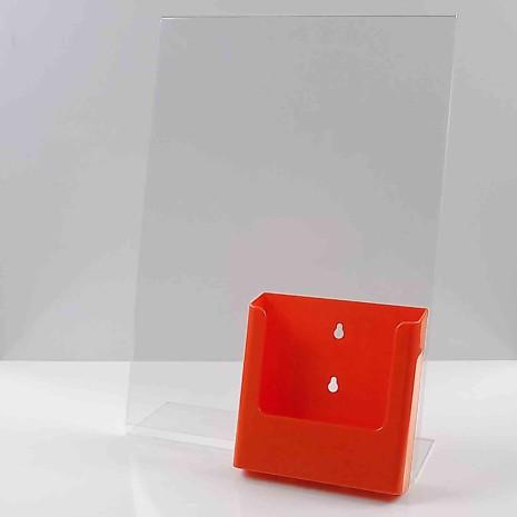 L standaard A3 staand met folderhouder A5 oranje