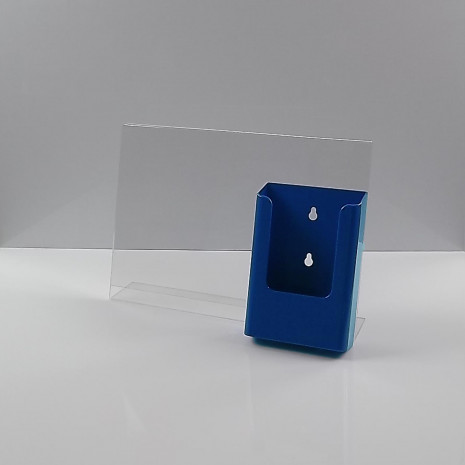 L-Standaard A4 Liggend met 1/3 A4 Folderhouder Blauw