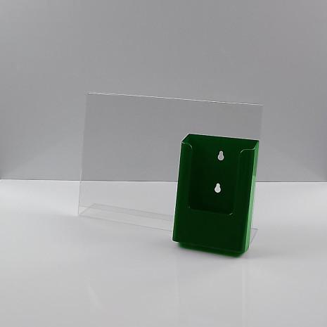 L-Standaard A4 Liggend met 1/3 A4 Folderhouder Groen
