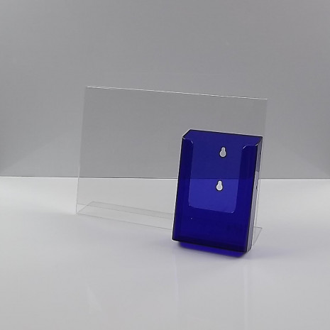 L-Standaard A4 Liggend met 1/3 A4 Folderhouder Transparant Paars