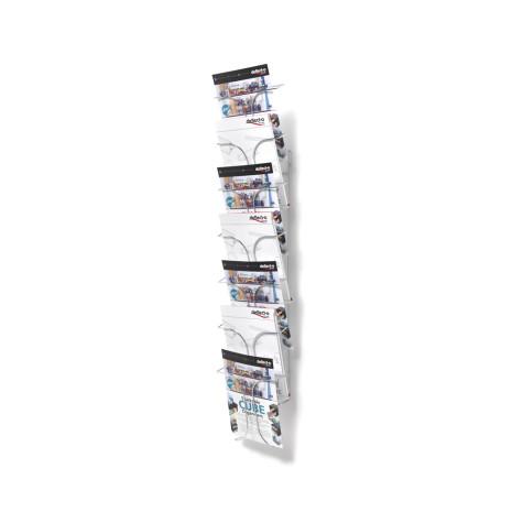 Metalen wand folderhouder a4 7 vaks met flyer
