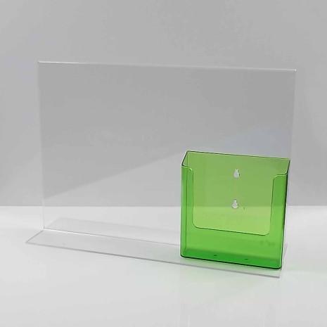 T-Standaard A3 met A5 Folderhouder Transparant Groen