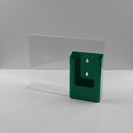 T-Standaard A4 liggend met een groene folderhouder 1/3 A4