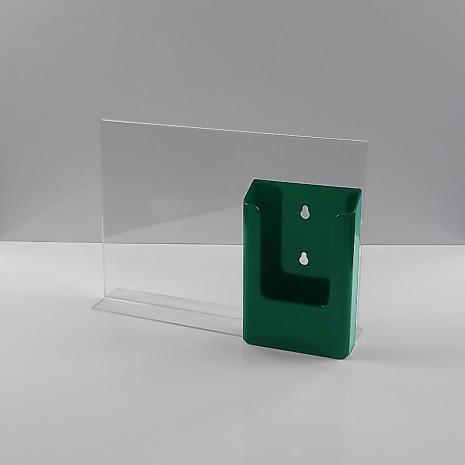 T-Standaard A4 Liggend met 1/3 A4 Folderhouder Transparant Groen