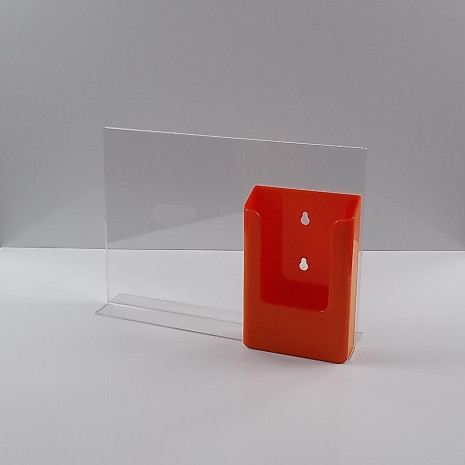 T-Standaard A4 liggend met 1/3 A4 folderhouder oranje