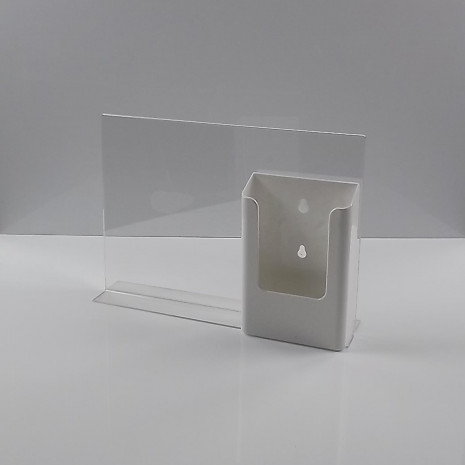 T-Standaard A4 liggend met 1/3 A4 folderhouder wit