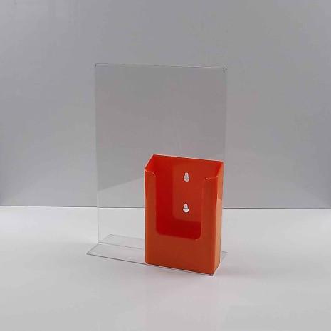 T-Standaard A4 Staand met 1/3 A4 Folderhouder Oranje