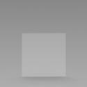 Kuchscherm hangend / Plexiglas scherm (1000*1000)