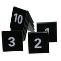 Tafelnummers 31 tot en met 40 zwart