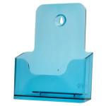 Folderhouder A5 Transparant Blauw